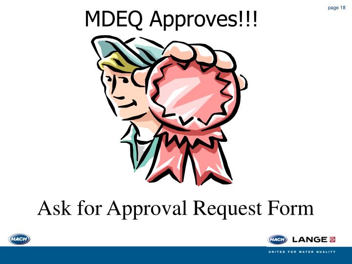 MDEQ Approves!!!