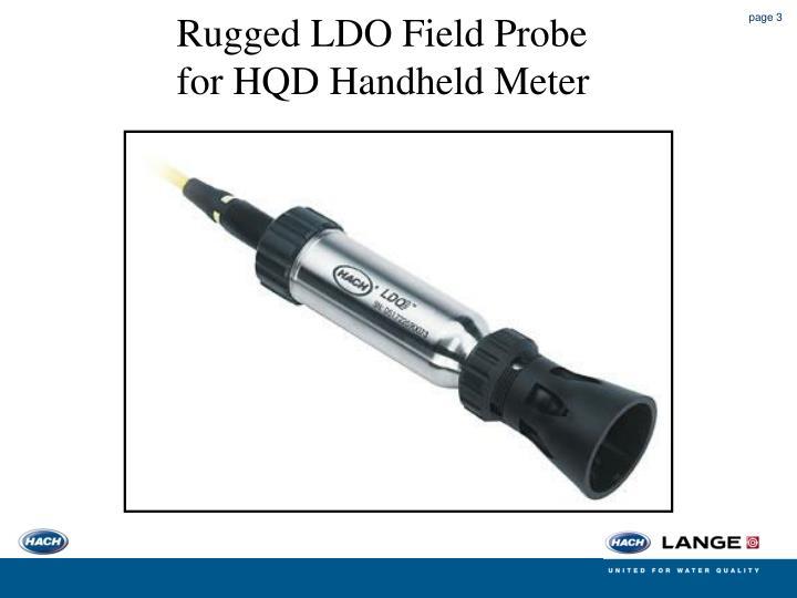 Rugged LDO Field Probe for HQD Handheld Meter