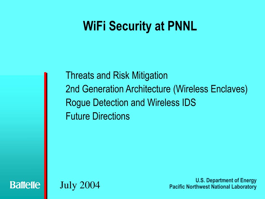 WiFi Security at PNNL