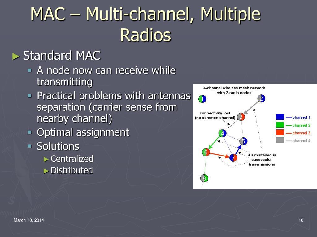 MAC – Multi-channel, Multiple Radios