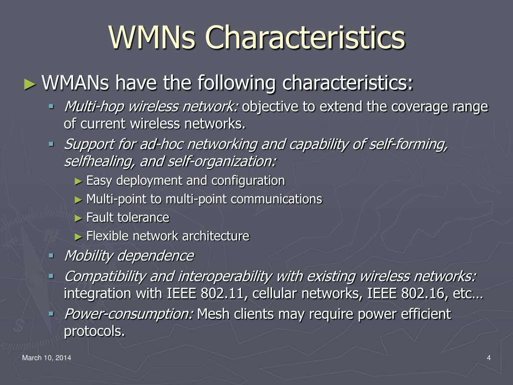 WMNs Characteristics