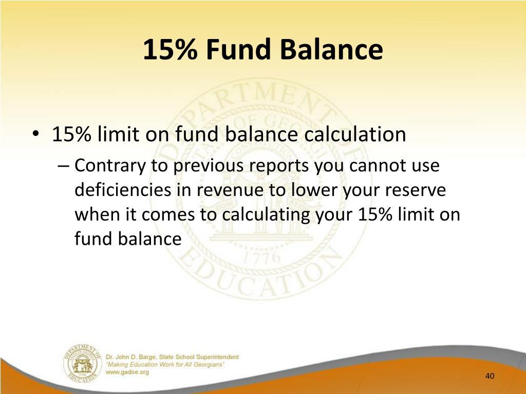 15% Fund Balance