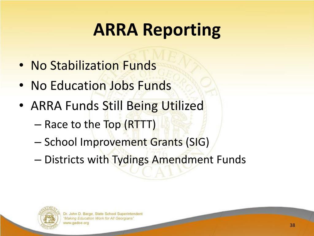 ARRA Reporting