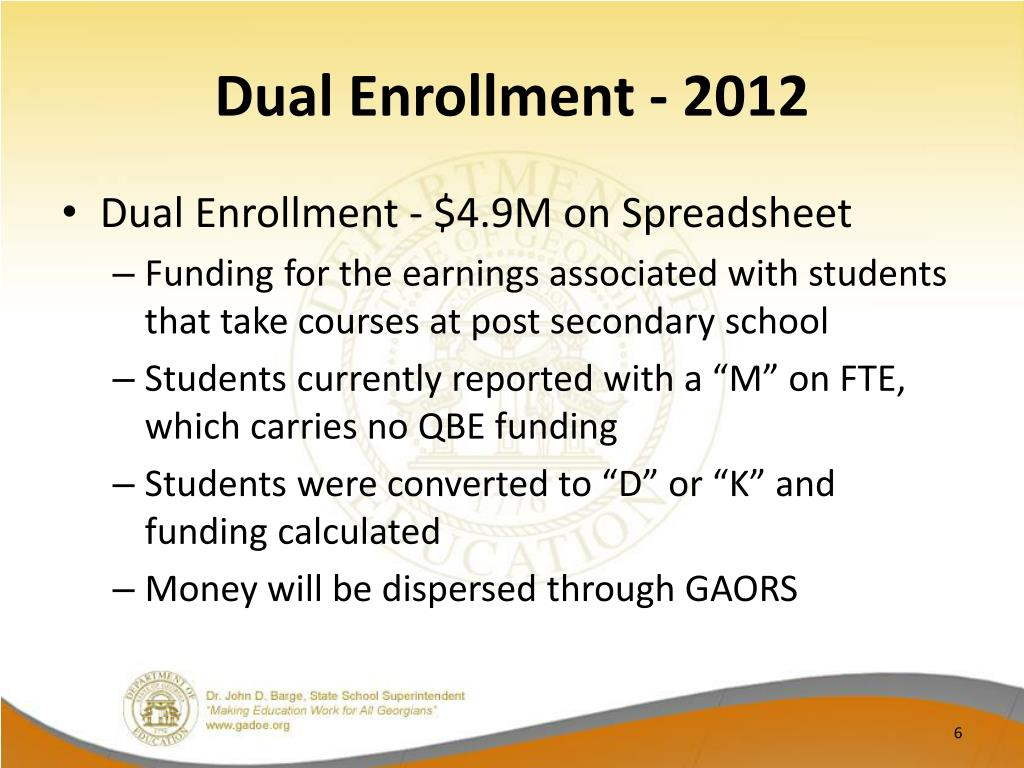 Dual Enrollment - 2012