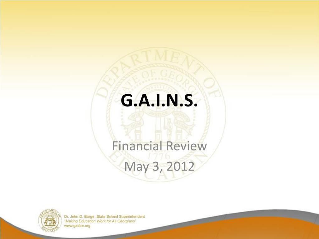 G.A.I.N.S.