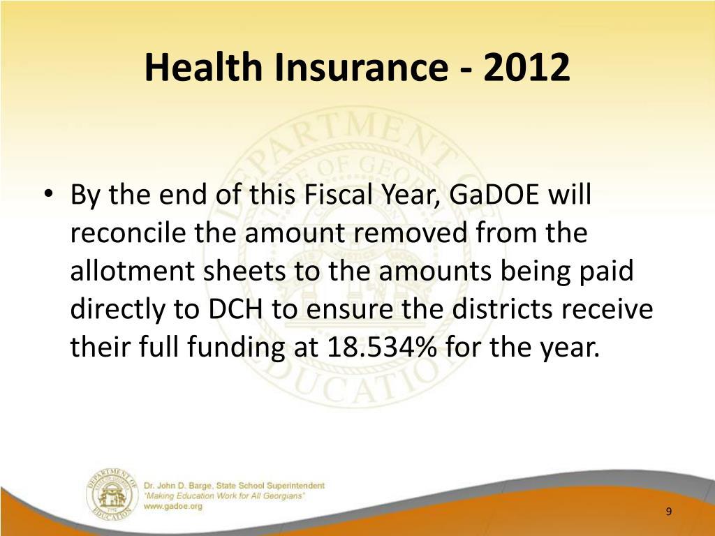Health Insurance - 2012