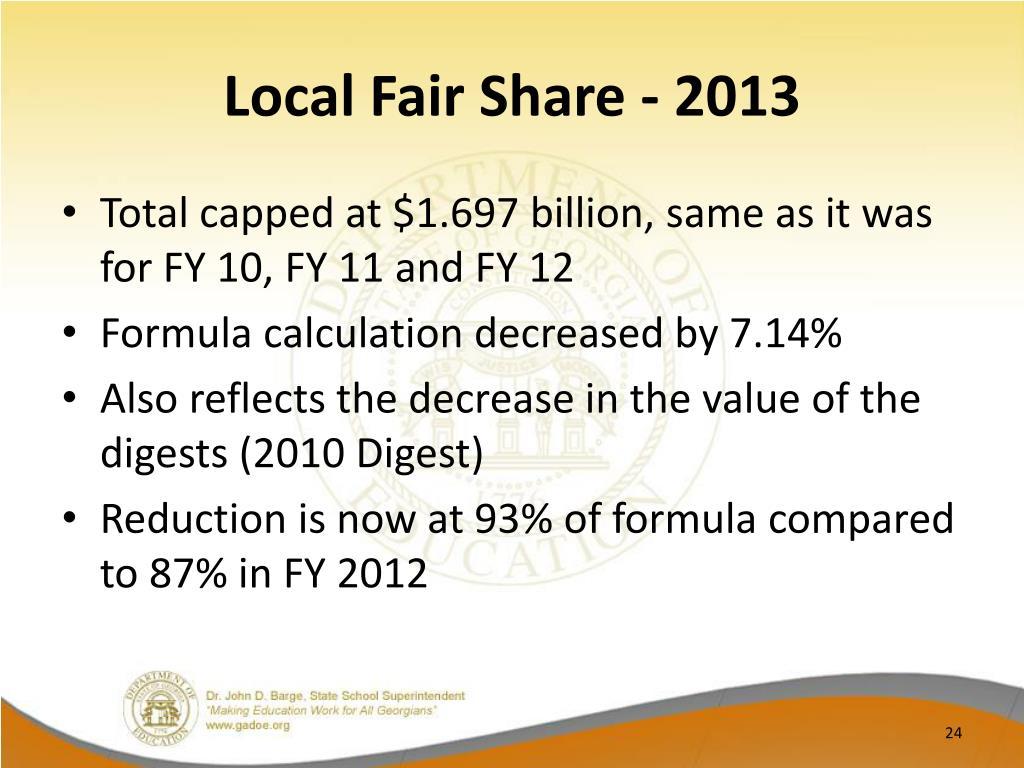 Local Fair Share - 2013