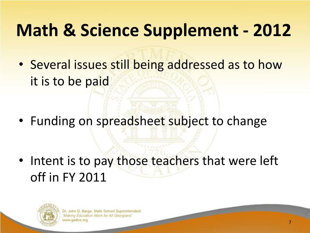 Math & Science Supplement - 2012