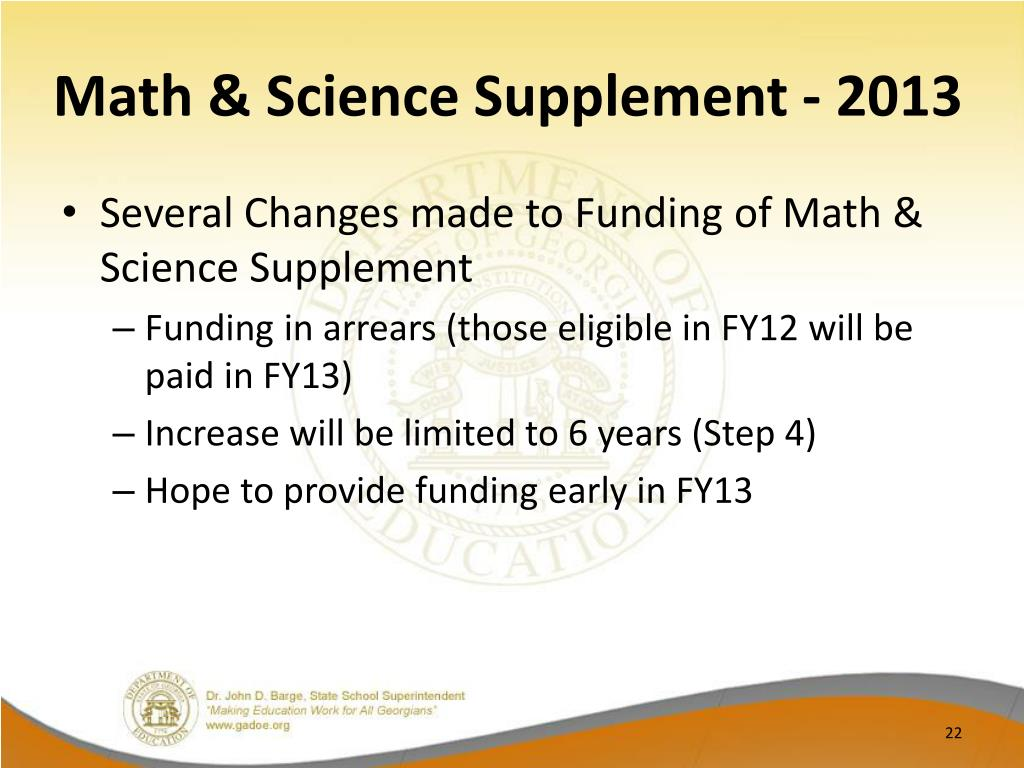 Math & Science Supplement - 2013