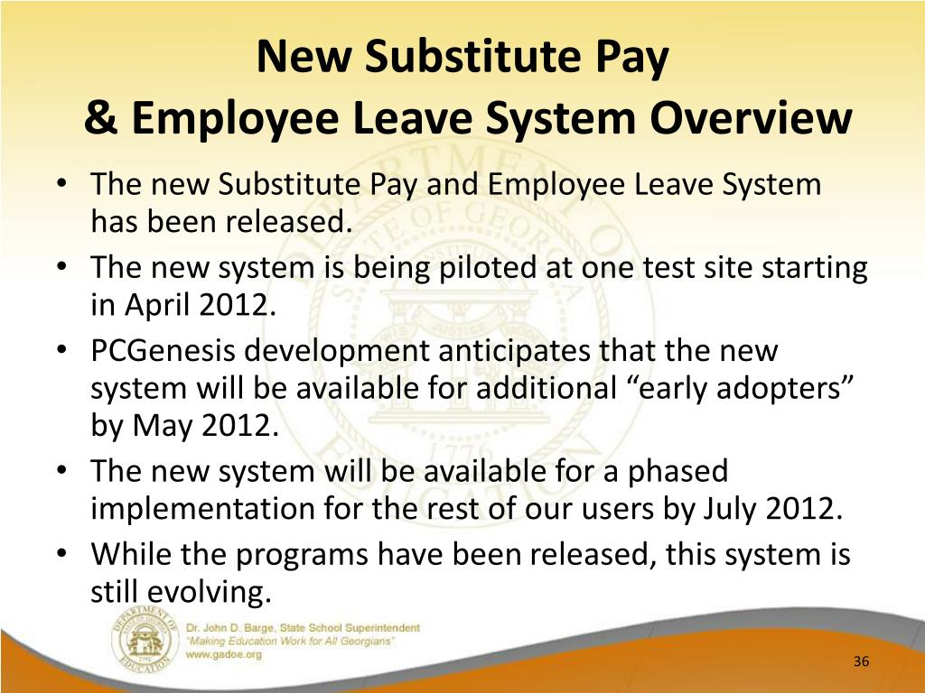 New Substitute Pay