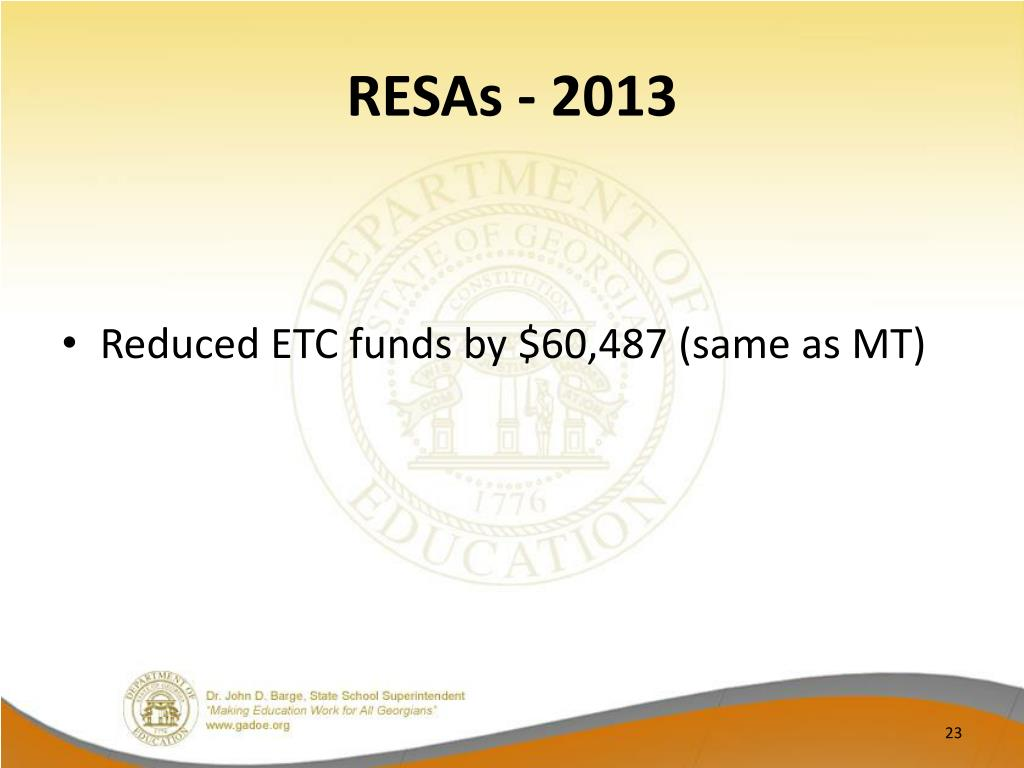 RESAs - 2013
