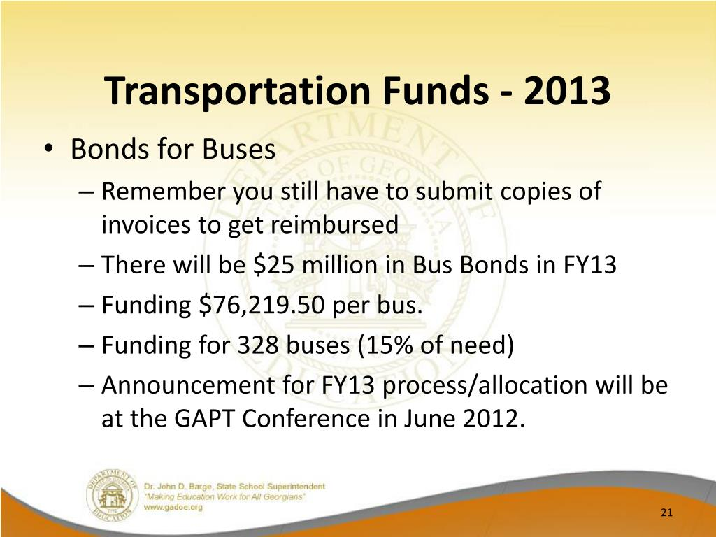 Transportation Funds - 2013