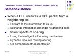 overview of the 802 22 standard the 802 22 mac cont d self coexistence24