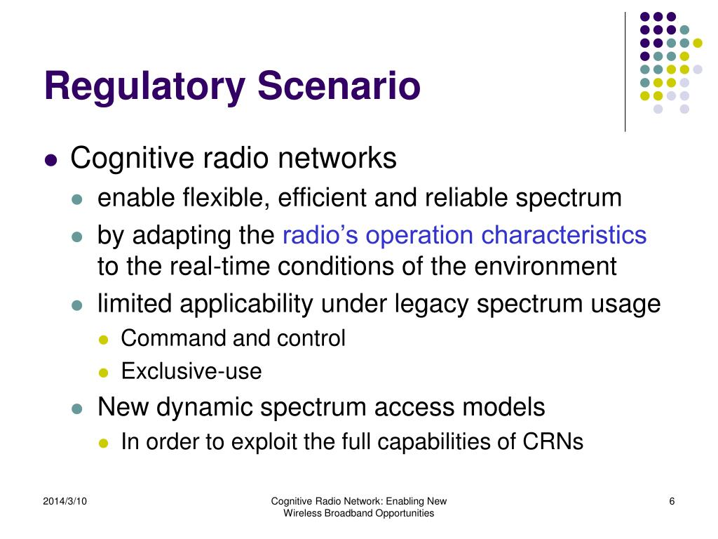 Regulatory Scenario
