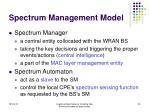 spectrum management model