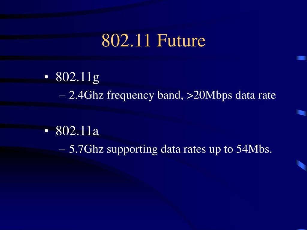 802.11 Future