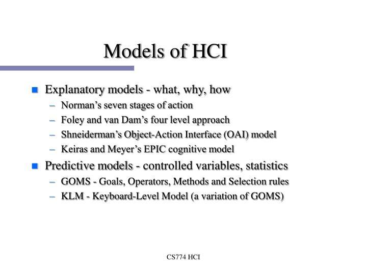Models of HCI