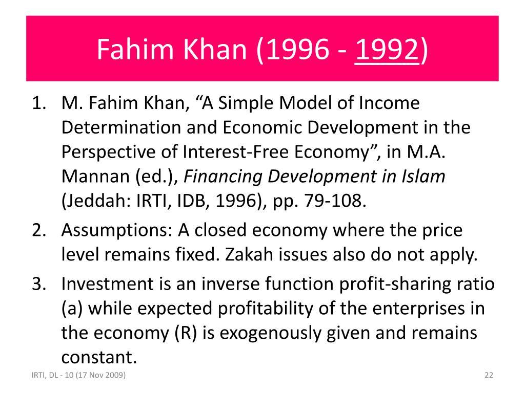 Fahim Khan (1996 -