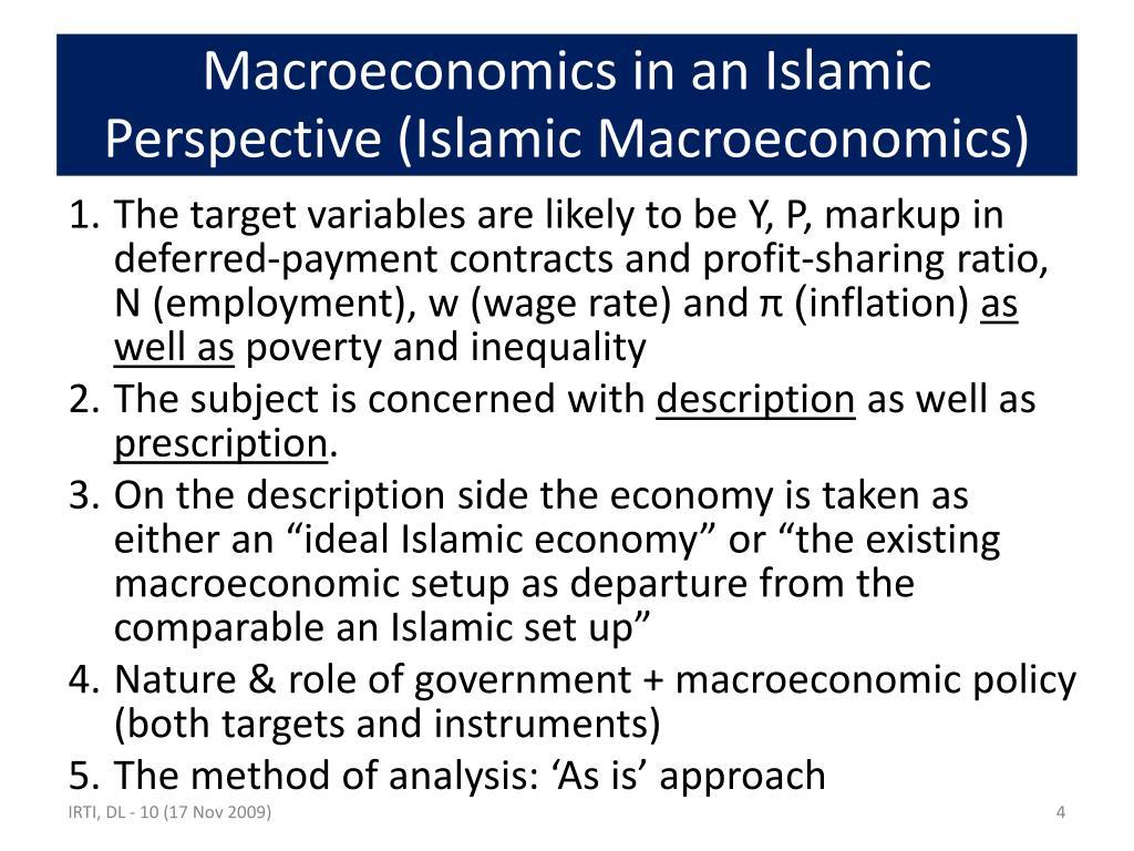 Macroeconomics in an Islamic Perspective (Islamic Macroeconomics)