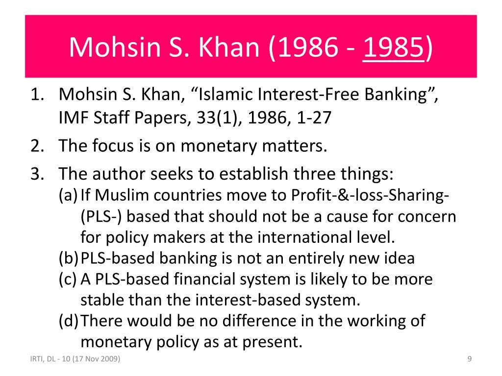 Mohsin S. Khan (1986 -
