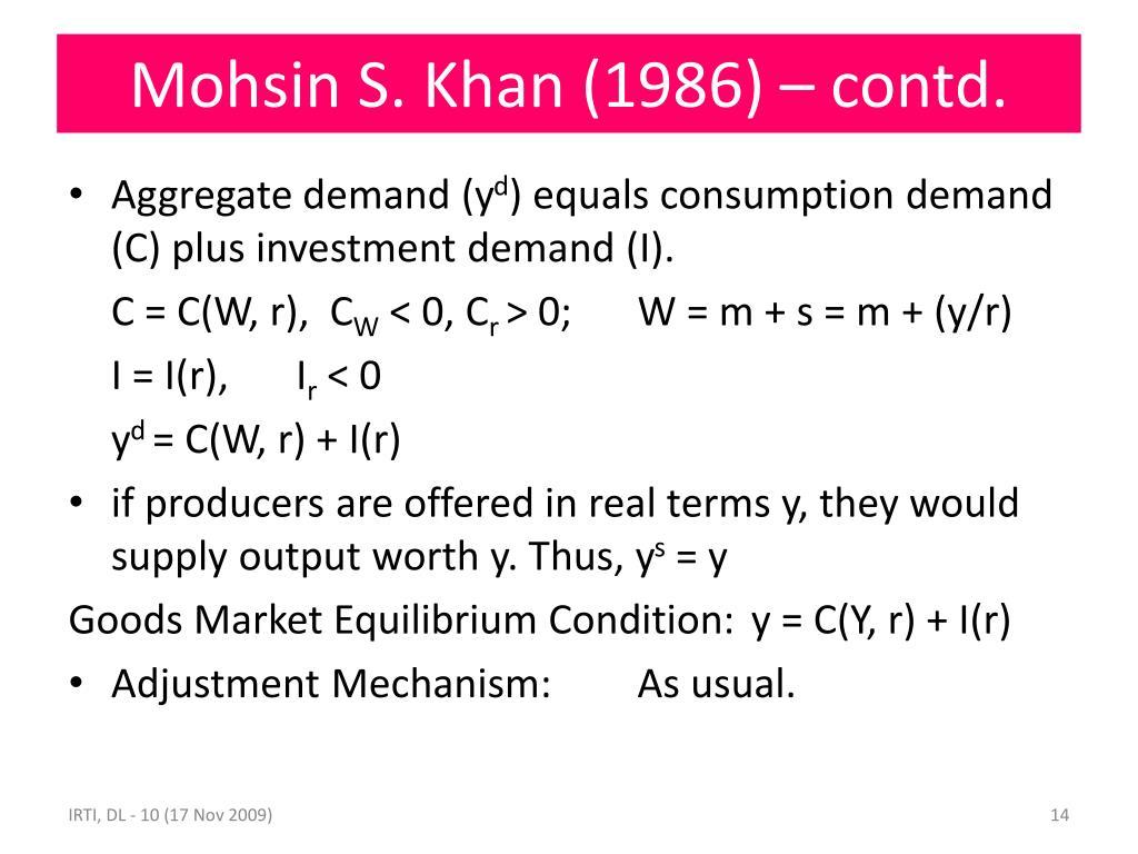 Mohsin S. Khan (1986) – contd.