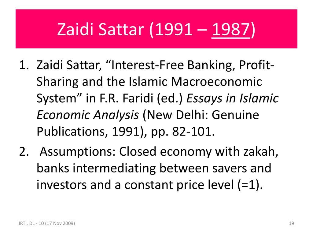 Zaidi Sattar (1991 –