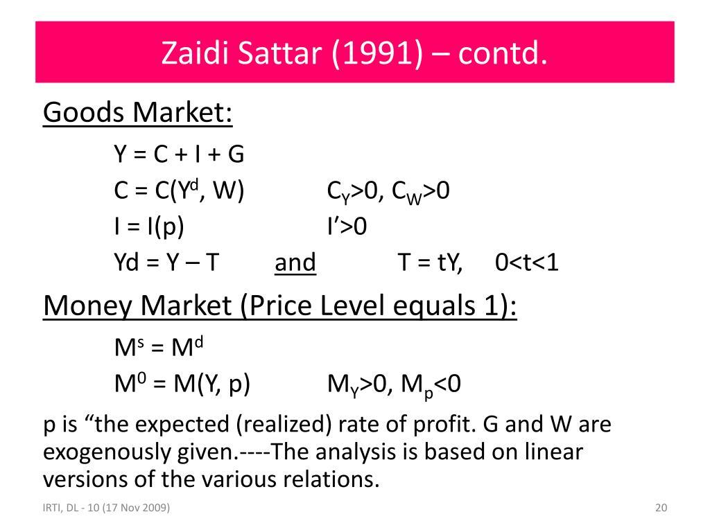 Zaidi Sattar (1991) – contd.