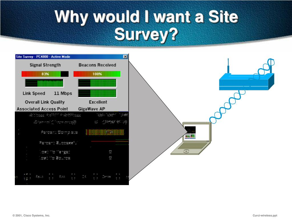 Why would I want a Site Survey?