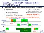 ieee 802 11 distributed coordinate function dcf mac protocol