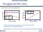 throughput and mac delay