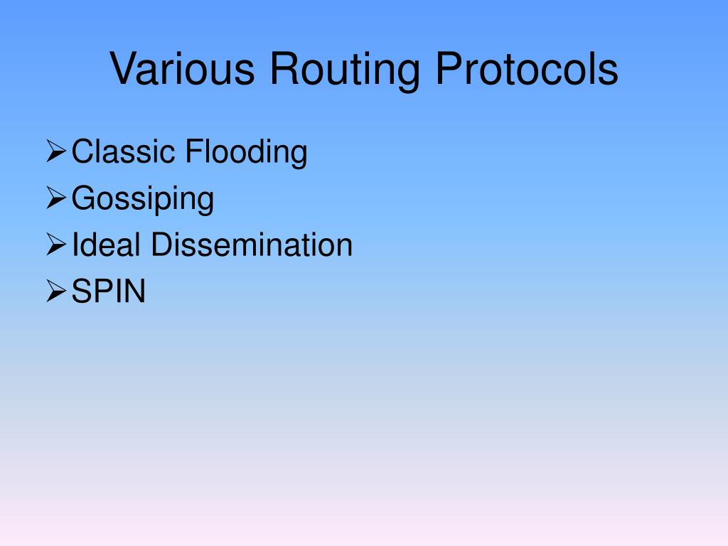 Various Routing Protocols