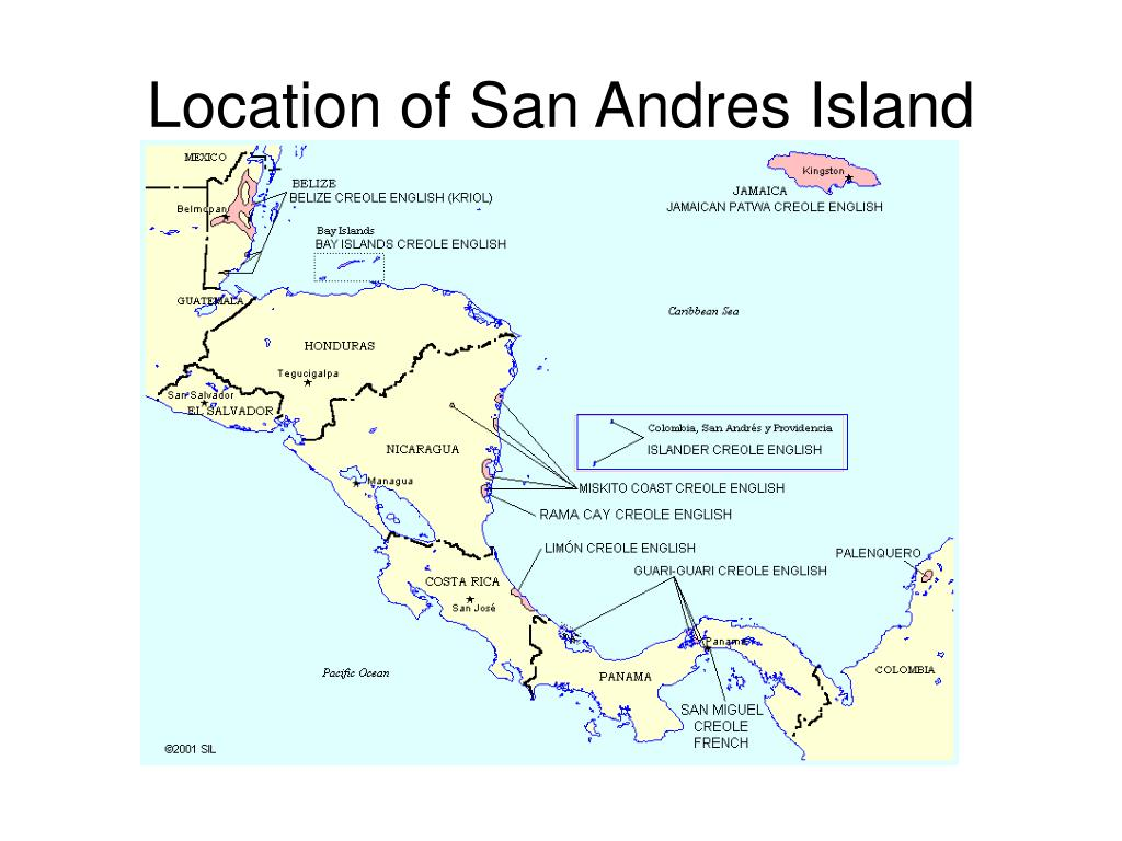 Location of San Andres Island