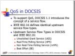 qos in docsis