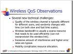 wireless qos observations