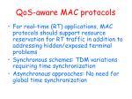 qos aware mac protocols