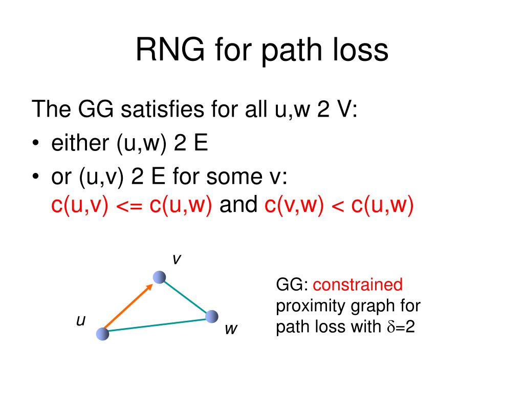 RNG for path loss