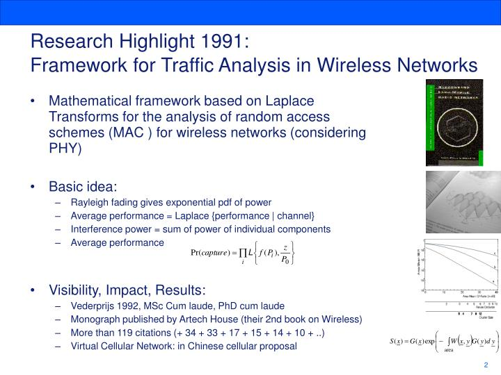 Research highlight 1991 framework for traffic analysis in wireless networks