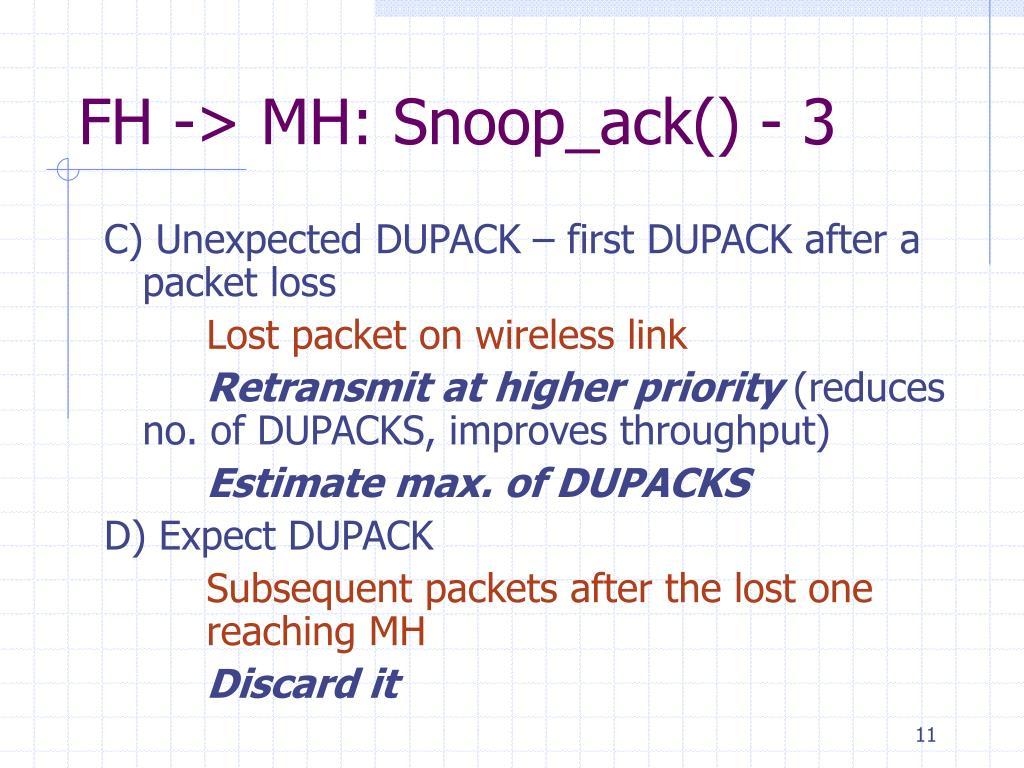FH -> MH: Snoop_ack() - 3