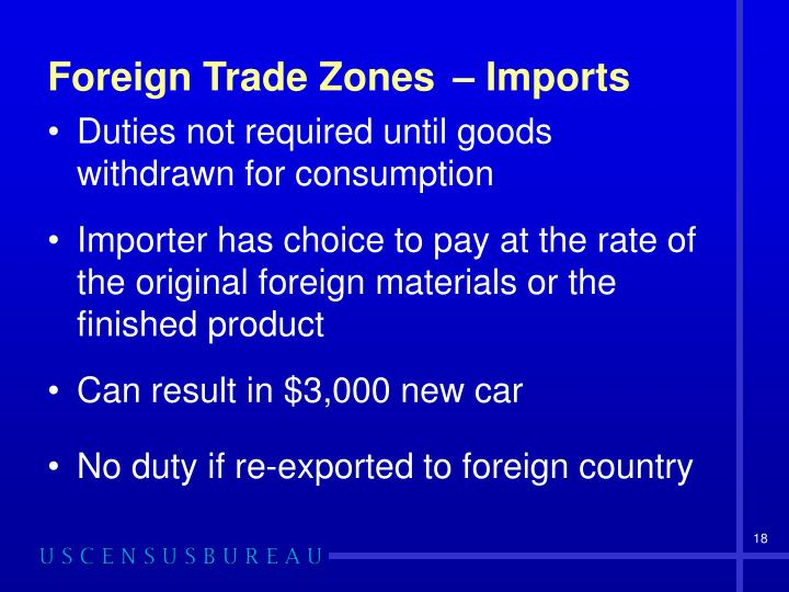 Foreign Trade Zones – Imports