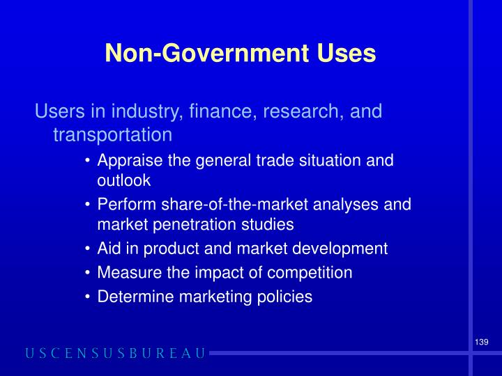 Non-Government Uses