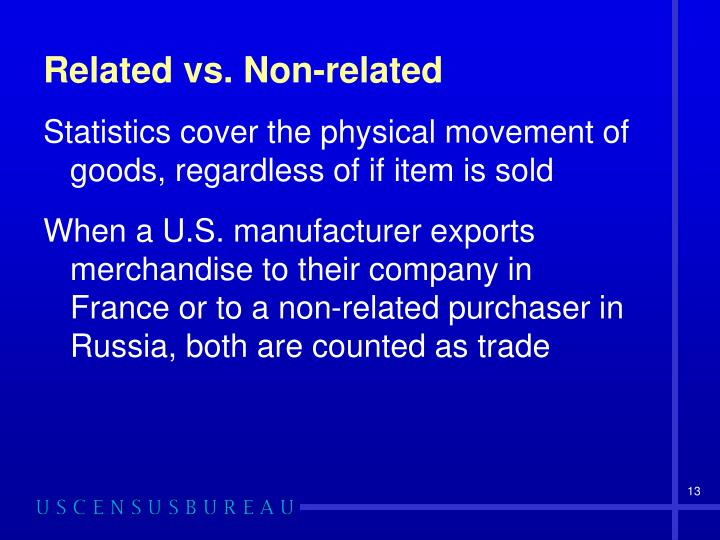 Related vs. Non-related