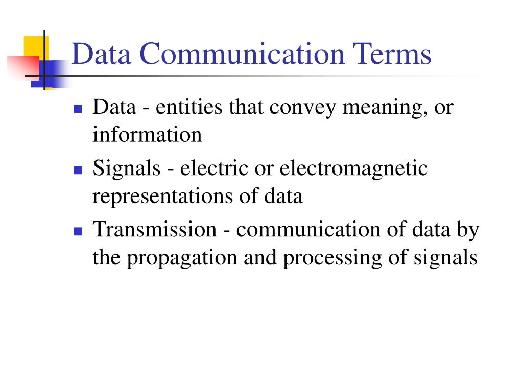 Data Communication Terms