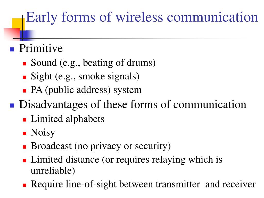 Early forms of wireless communication
