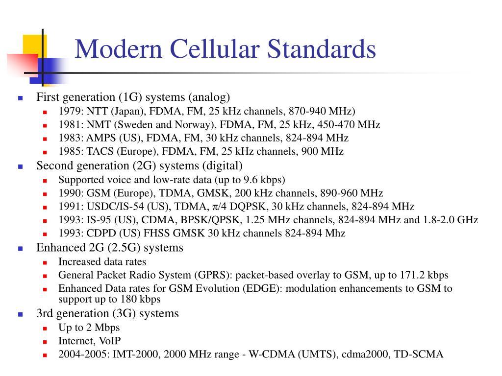 Modern Cellular Standards