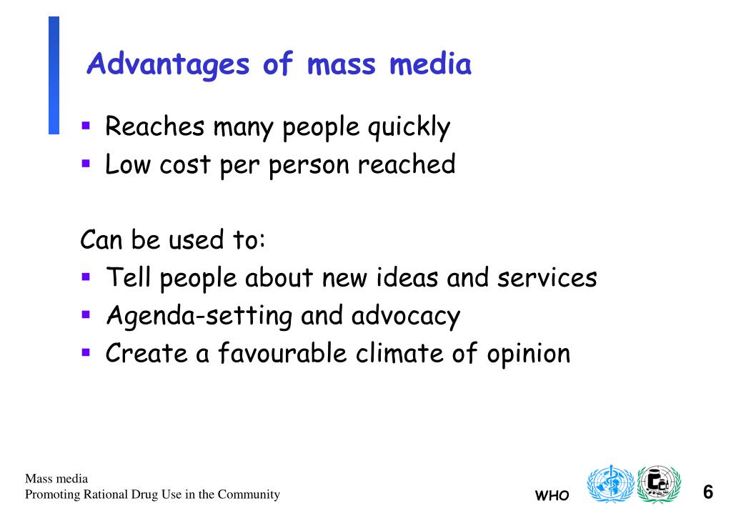 the benefits and flaws of mass media Some 200 pages of his book goes through flaws in popular  here are some reputable sources that explain how to interpret and read articles about health in the media.