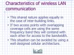 characteristics of wireless lan communication39