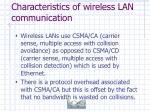characteristics of wireless lan communication40