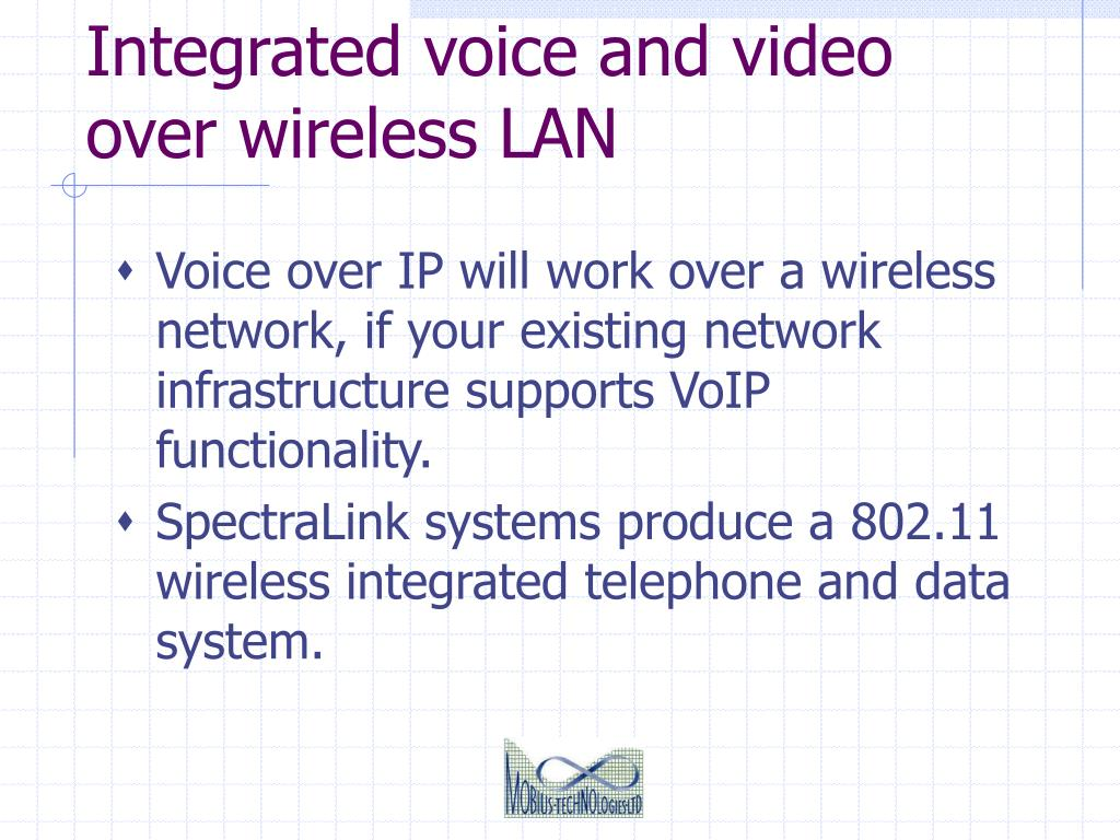 Integrated voice and video over wireless LAN