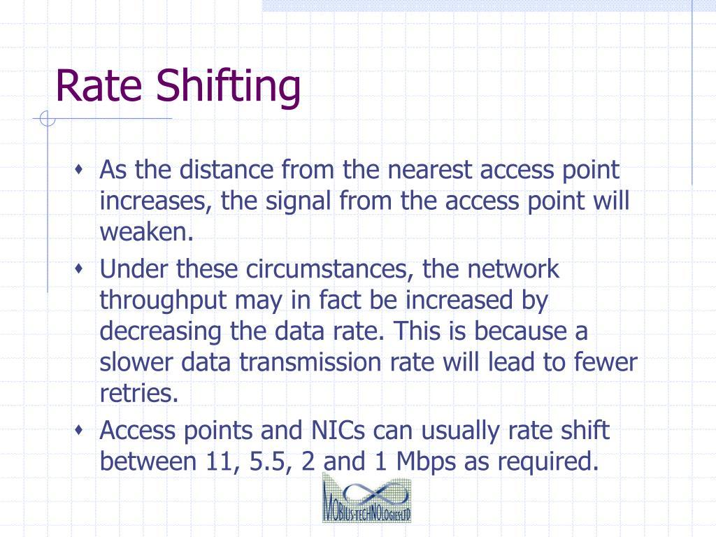 Rate Shifting