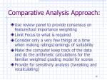 comparative analysis approach